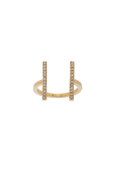 Ileana Makri Double Bar Ring in Yellow Gold