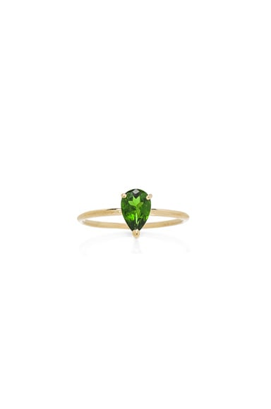 Ileana Makri Single Stone Ring in Yellow Gold