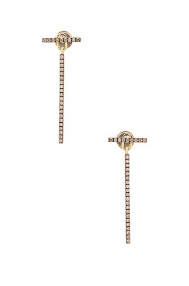 Ileana Makri Bar Earrings in Yellow Gold