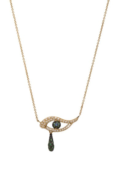 Ileana Makri Angry Tears Necklace in Yellow Gold