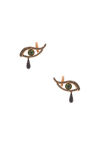 Ileana Makri Angry Tears Earring in Rose Gold