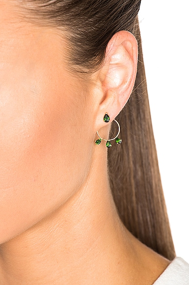 Diamond Tears Stud Hoops