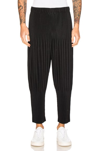 Issey Miyake Homme Plisse Basic Long Pants in Black