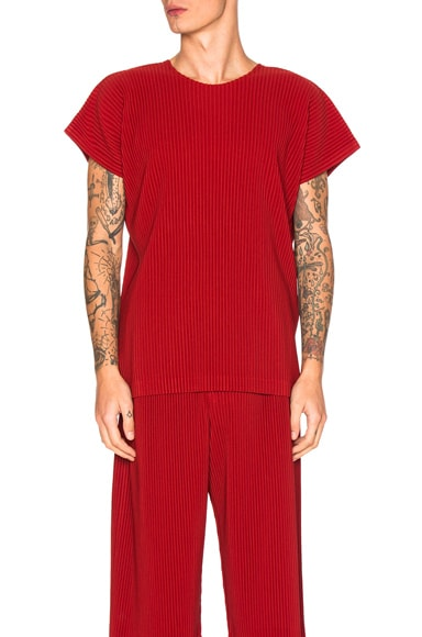 Issey Miyake Homme Plisse Tunic in Energy Red