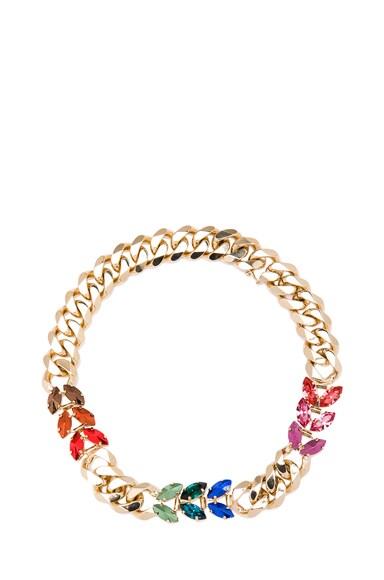 Short Navettes Antique Brass Necklace