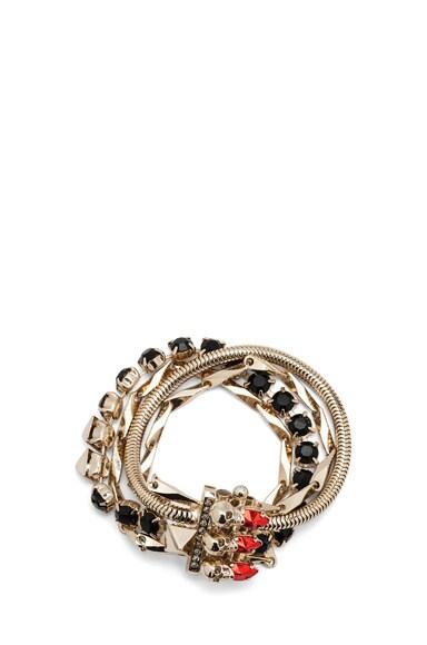 Multi Chain Antique Brass Bracelet