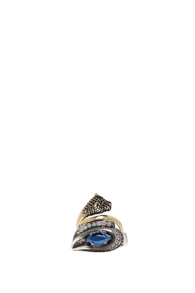Ring Set with Fused Stone