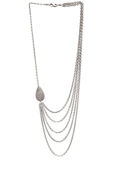 Asymmetric Multi Chain Diamond Necklace