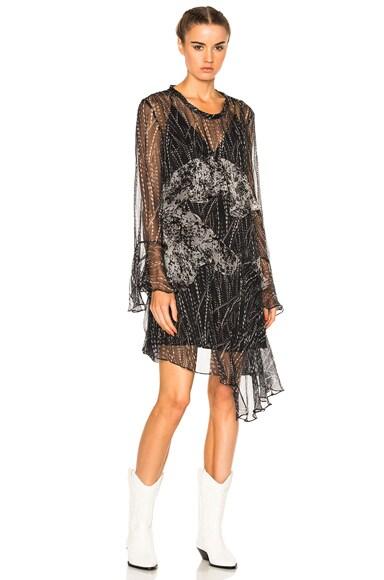 IRO Gypsy Dress in Black & White