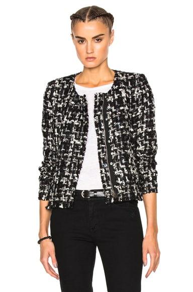 IRO Nalokie Jacket in Black & White