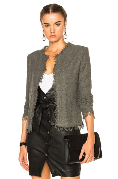 IRO Shavani Jacket in Steel Gray