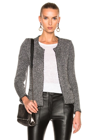 IRO Wallice Jacket in Black & Silver
