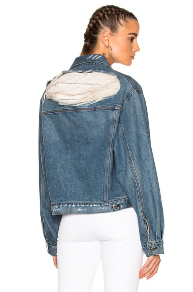 IRO . JEANS Bill Jacket in Blue Denim