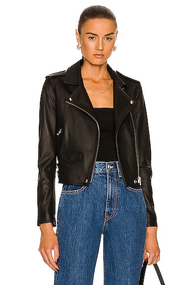 IRO Ashville Leather Moto Jacket in Black