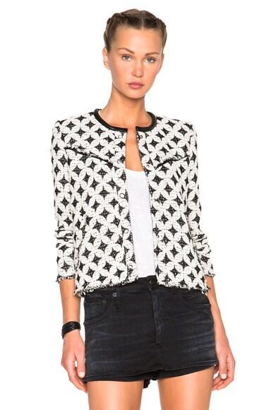 IRO Handi Jacket in White & Black