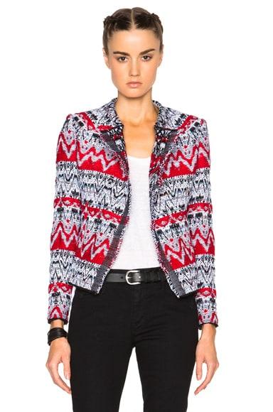 IRO Kroe Jacket in Black & Red