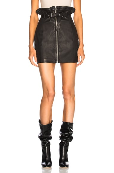Hexim Leather Skirt
