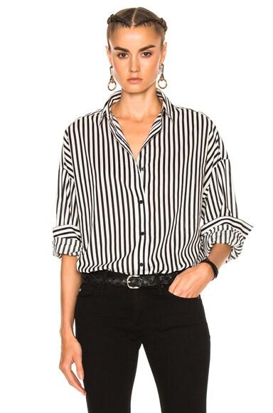 IRO Bret Shirt in Black & White