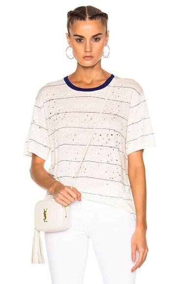 IRO Hadith Tee Shirt in Blue & White
