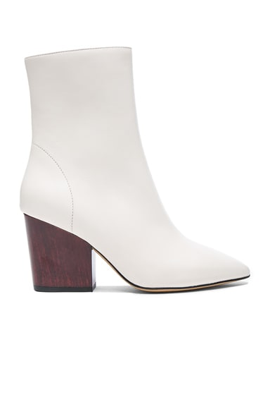 IRO Leather Ameliss Booties in Off White