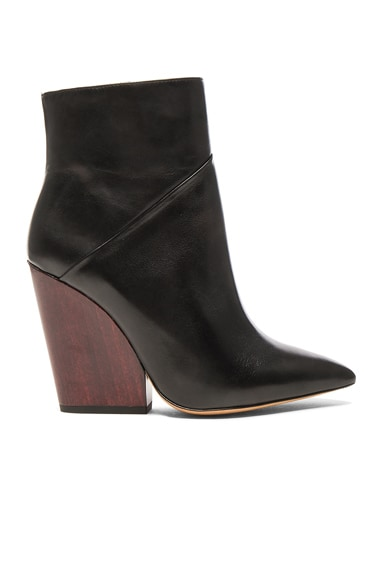 IRO Leather Lasdia Booties in Black