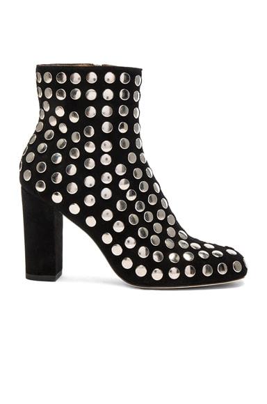 Embellished Suede Bootroky Boots