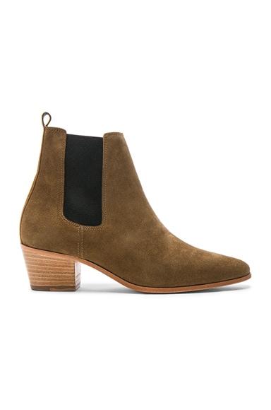 IRO Suede Yvette Boots in Khaki
