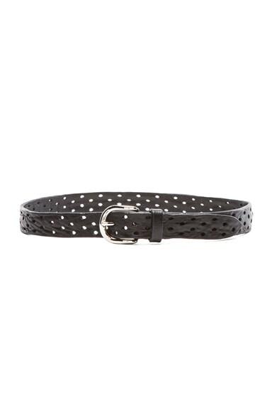 Isabel Marant Klaude Leather Belt in Black