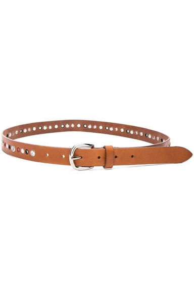 Isabel Marant Zoe Eyelet Belt in Natural