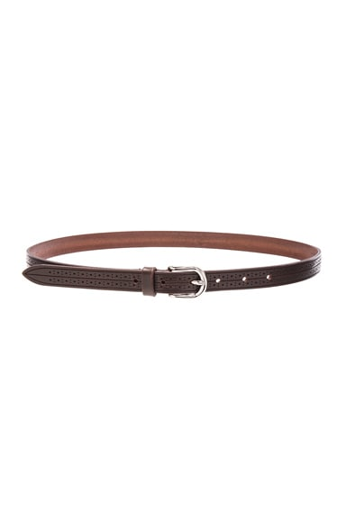 Isabel Marant Kaylee Leather Belt in Brown