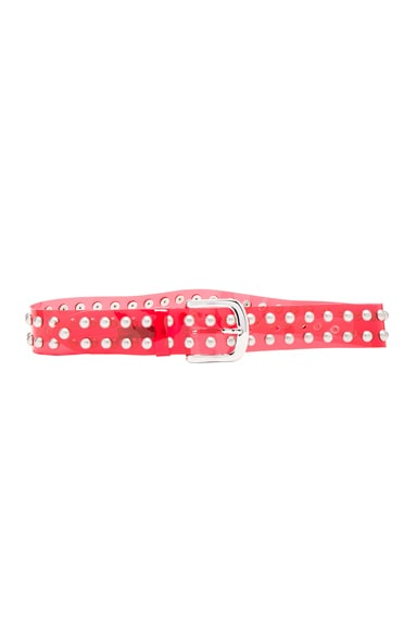 Isabel Marant PVC Stud Belt in Red