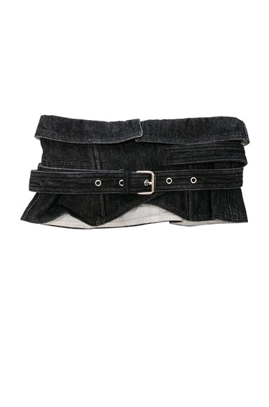 Isabel Marant Erika Waist Belt in Faded Black