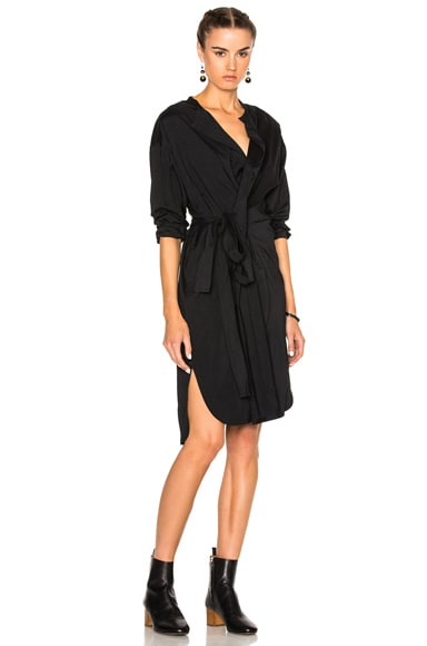 Isabel Marant Dias Silk Dress in Black