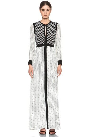 Melissande Striped Silk Crepe Maxi Dress