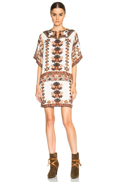 Isabel Marant Sully Printed Story Dress in Ecru