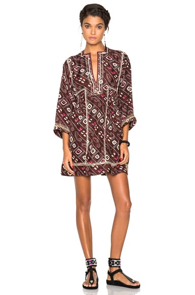 Isabel Marant Thurman Dress in Burgundy