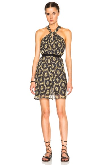 Isabel Marant Tevy Printed Look Dress in Yellow