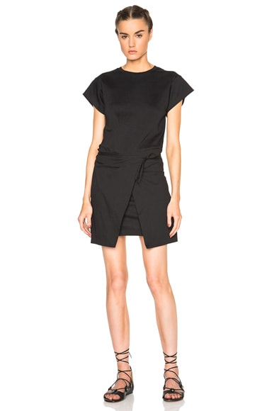 Isabel Marant Senga Chic Tee Shirt Dress in Black