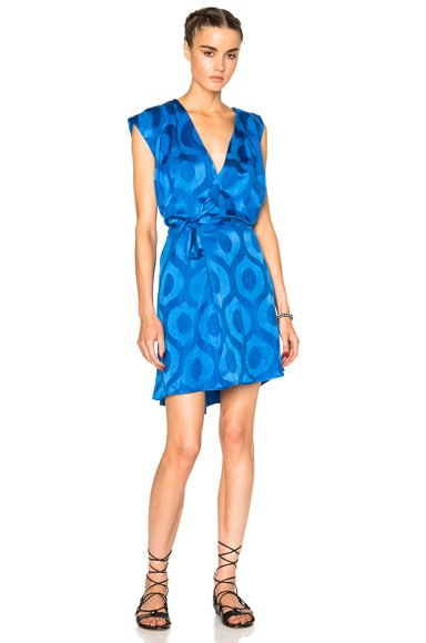 Isabel Marant Sudley New Moire Dress in Electric Blue