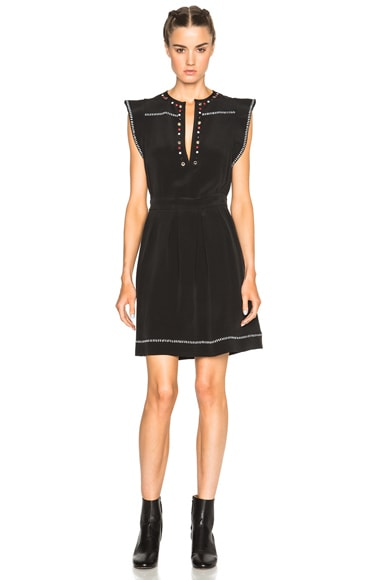 Isabel Marant Fergie Eyelet Embroidery Dress in Black