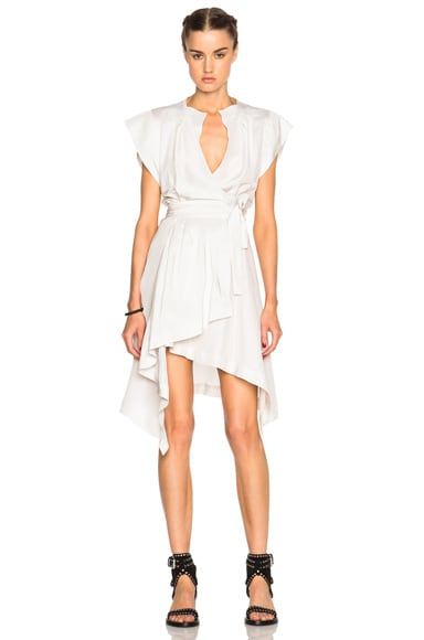 Isabel Marant Lief Silk Dress in Chalk