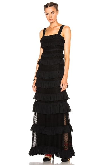 Isabel Marant Easy Evening Tuline Dress in Black