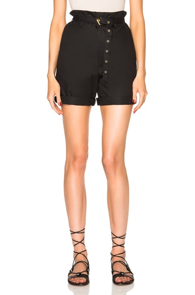 Isabel Marant Neddy Chic Poplin Shorts in Black