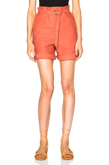 Isabel Marant Neddy Chic Poplin Shorts in Sienna
