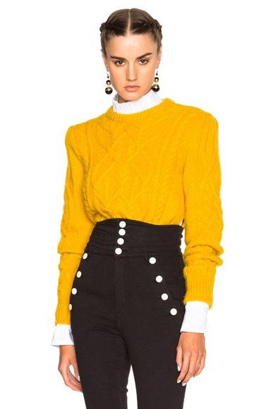 Isabel Marant Gayle Irish Baby Alpaca Sweater in Yellow