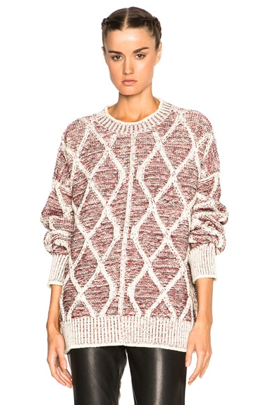 Isabel Marant Elliot Victorian Irish Knit Sweater in Ecru