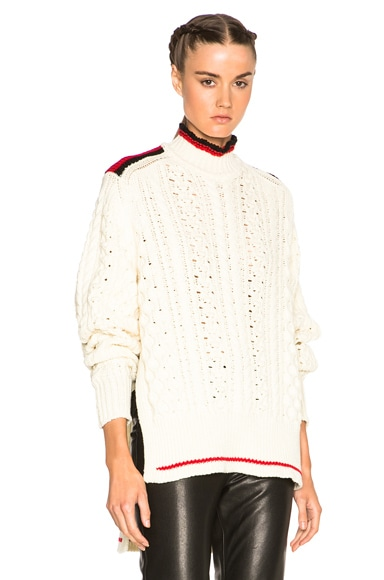 Isabel Marant Edison Sporty Twisted Sweater in Ecru