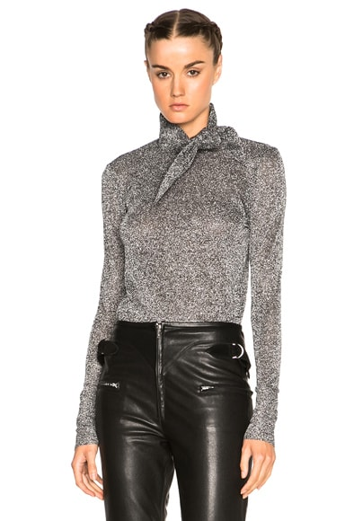 Isabel Marant Lurex Knit Sweater in Silver