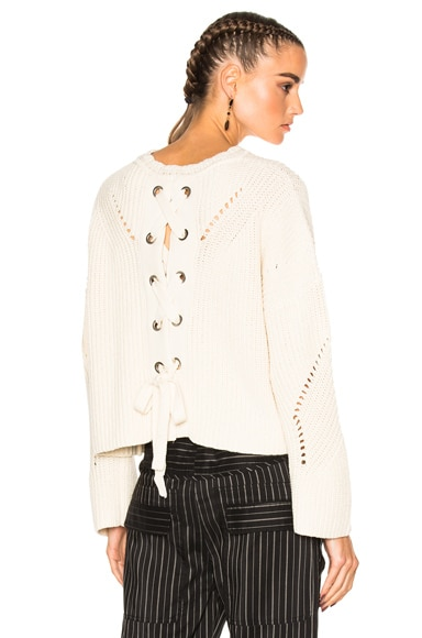 Isabel Marant Grifin Sweater in Ecru
