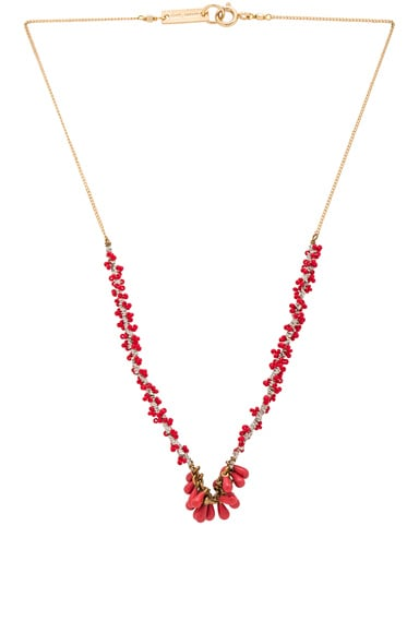 Isabel Marant Tanger Necklace in Red